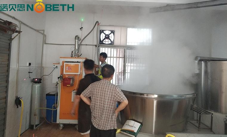 四川酒厂选用广东500公斤酿酒燃气蒸汽发生器酿造高品质白酒